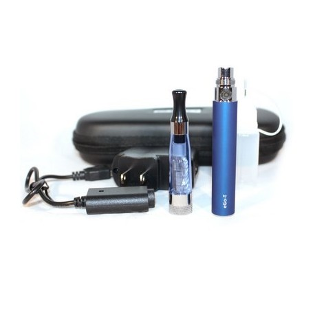 Cigarro Electrónico - Color Azul - EGO-T Kit 650 mah - 1.6 ml CE4 Atomizer - Cargador USB - Estuche