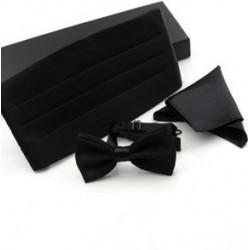Set para Smoking o Frac - Corbata Michi + Pañuelo + Sellador o Faja de Cintura