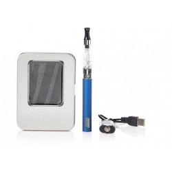 Cigarro Electrónico-Azul-EGO Kit 1100 mah-Pantalla LCD-1.6ml CE4 Atomizer-Cargador USB-Caja Metálica