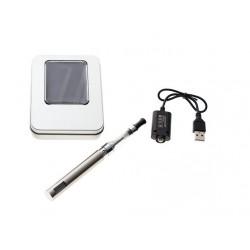 Cigarro Electrónico-Plateado-EGO Kit 1100 mah-Pantalla LCD-1.6ml CE4 Atomizer-Cargador USB-Caja Metálica