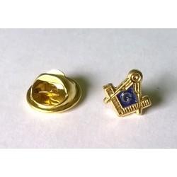 Pin Solapero-Dorado-Motivo Masónico-Broche Mariposa