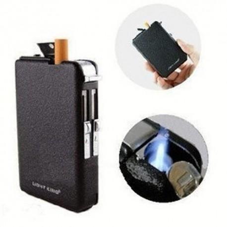Cigarrera - Dispensador Automático - Encendedor - Gas - Resistente al Viento