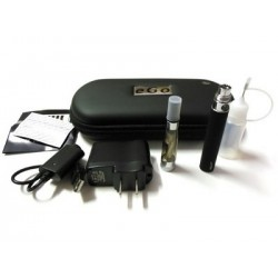 Cigarro Electrónico-Color Negro-EGO T Kit 900 mah-1.6 ml CE4 Atomizer-Cargador USB-Estuche