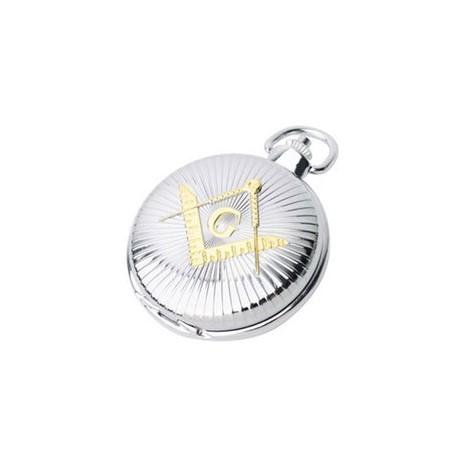 Reloj Masónico de Bolsillo - Cuarzo - Plateado