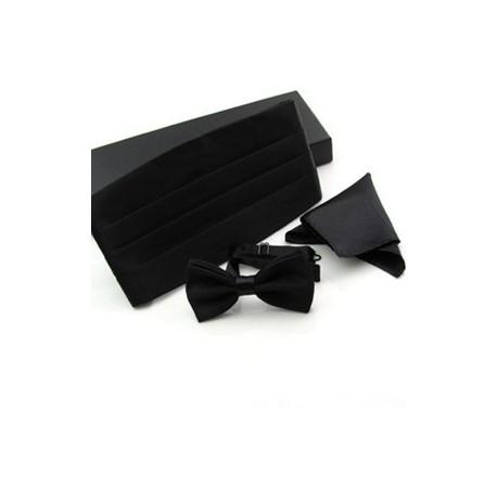 Set para Smaoking o Frac - Corbata Michi + Pañuelo + Sellador o Faja de Cintura