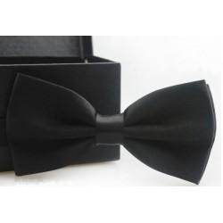 Corbata Michi - Color Negro - Sujetador Plástico - Doble Pliegue