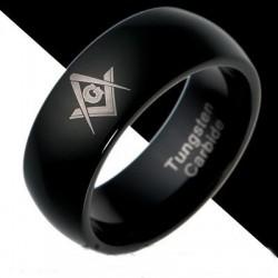 Anillo Masónico - Tungsteno Carbide - Negro