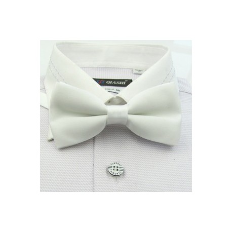 Corbata Michi - Color Blanco - Nudo Inglés