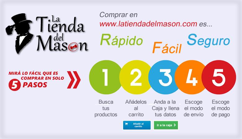 Compra fácil, rápido y seguro en www.latiendadelmason.com