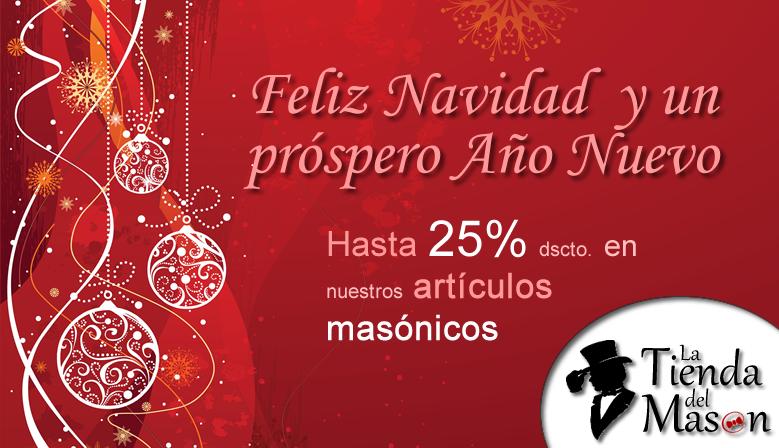 Feliz Navidad y Próspero Año Nuevo les desea LATIENDADELMASON.COM